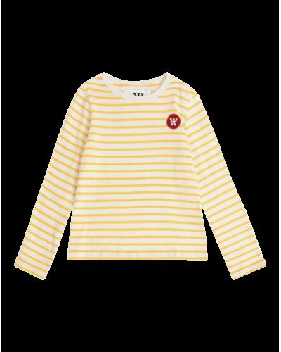 Kim Langærmet Bluse Yellow/Off-white