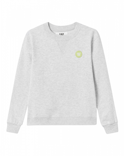 Wood Wood Rod Sweatshirt Light Grey
